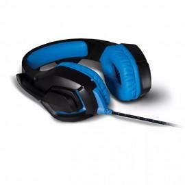 Fone de Ouvido Headset com led 2.0 USB Azul Warrior